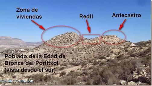 Hipótesis de la distribución del poblado del Portitxol