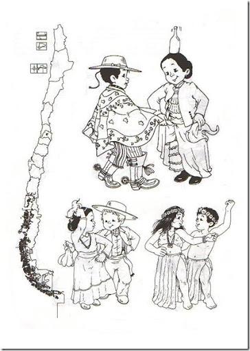 Dibujos para colorear símbolos patrios de Chile