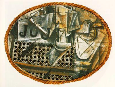 Rupture et continuite picasso histoire des arts ni l - Picasso nature morte a la chaise cannee ...