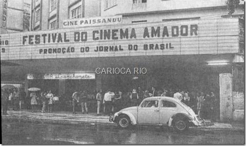 Cine Paissandu, Rua Senador Vergueiro, Flamengo - Anos 60