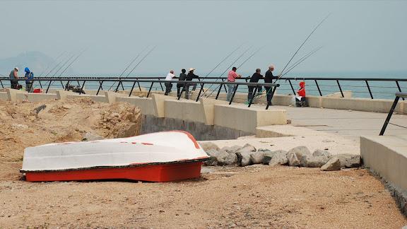 Qingdao - Plage shilaoren 石老人 - Pêcheurs