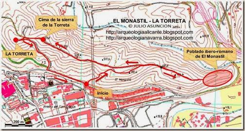 MAPA EL MONASTIL - LA TORRETA