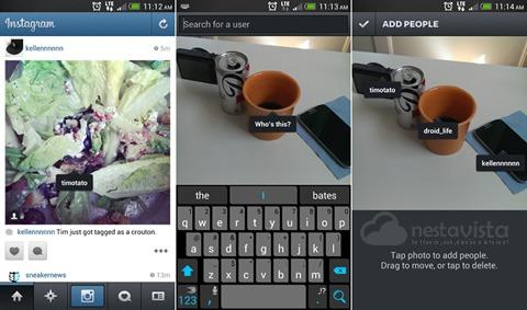 Etiquetar fotos en Instagram