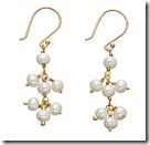 Manhatten Pearls White Seed Pearl Earrings