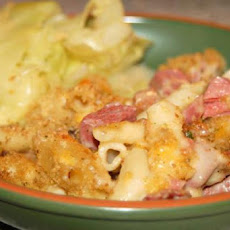 Corned Beef, Cabbage, Macaroni Bake