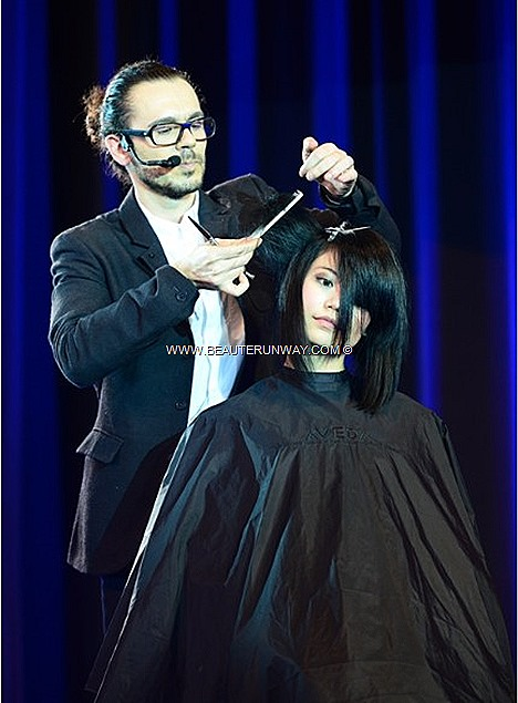 AVEDA SPRING SUMMER 2013 KEY HAIR TRENDS CATWALKS FOR WATER HAIR SHOW RICARDO DINIS, AVEDA GLOBAL ARTISTIC DIRECTOR, HAIRCUTTING LIGHT THE WAY CANDLES EARTH MONTH CHARITY CAUSE paris milan fashion london runway style ideas looks