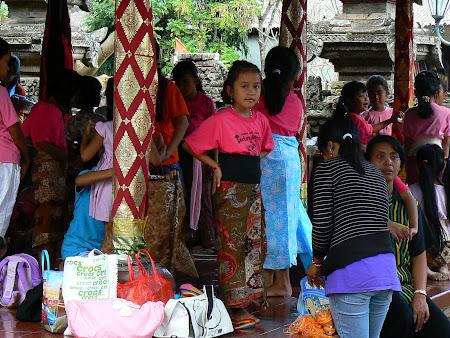Bali dances: young girls practicing legong