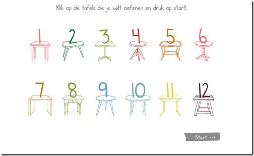Site om tafels te oefenen