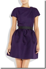 Victoria Beckham Belted Silk-gazaar Dress 2