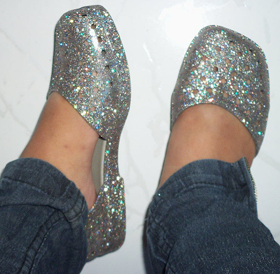 Zaxy Click Prata Glitter