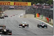 Schumacher supera Di Resta nel gran premio del Brasile 2011