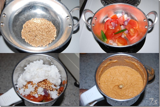 Ulutham paruppu chutney process