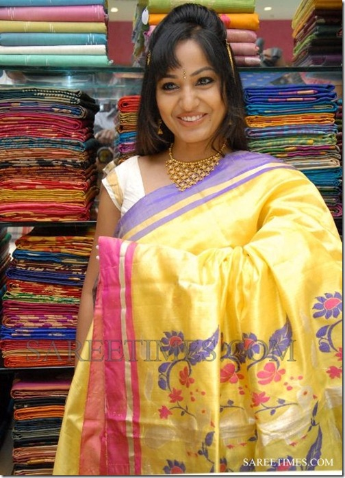 Madhavi_Latha_Yellow_Saree