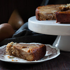 Pear Cake with Honey, Walnuts and Blue Cheese