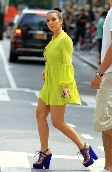 kim-kardashian-neon-dress