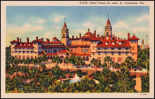 hotel-ponce-de-leon postcard