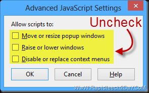 Firefox Disable Annoying JavaScript3