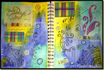 March 17 art journal d