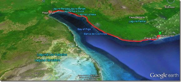 Mapa Playa Girón - Playa Larga