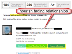 nourish fading relationships