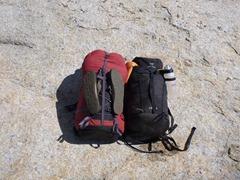 Sausage backpacks in Yosemite.