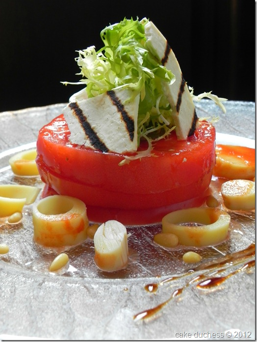 Tomato and Ricotta Salata Salad with Gazpacho Dressing ...