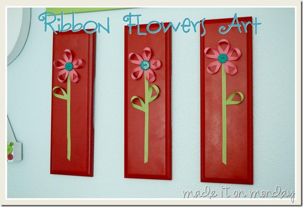Ribbon Flowers Art