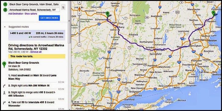 00b - Map Salisbury MA to Schenectedy, NY