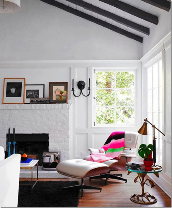 Lovely living room with black and colorful accents- design addict mom
