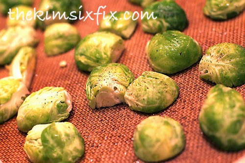 Baking brussels sprouts