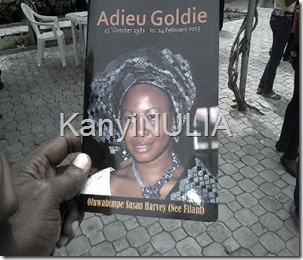 Goldie burial