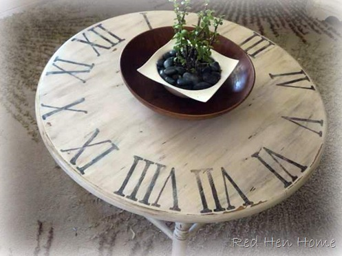 distressed clock table