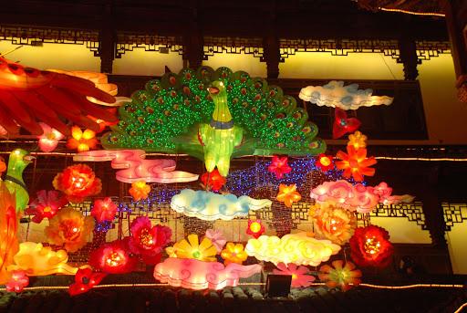 Shanghai Fête des Lanternes 2012 - Paon