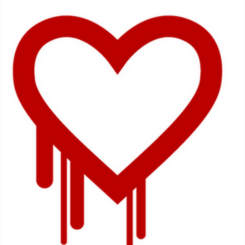 El famoso logo del bug Heartbleed