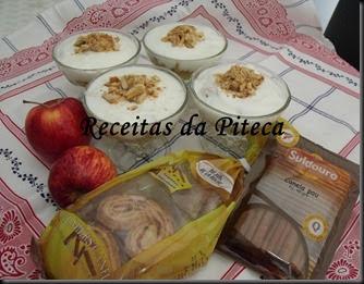 Doce de maçã com iogurte e palmiers de canela-parcerias