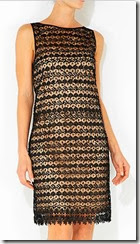 Wallis Black Crochet Sequin Dress
