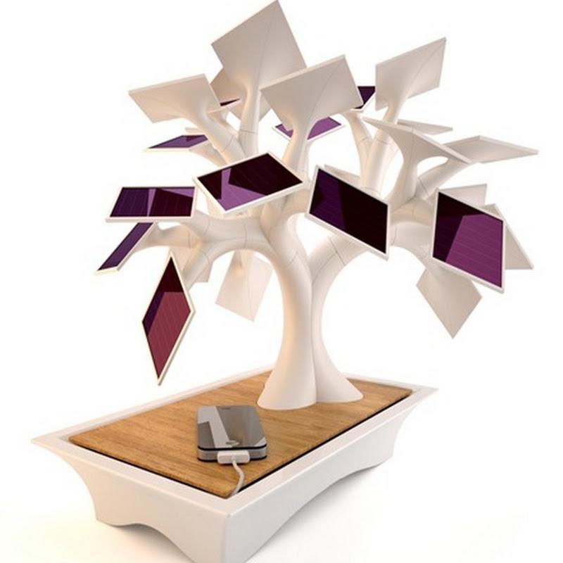 Un bonsái solar para la recarga de baratias