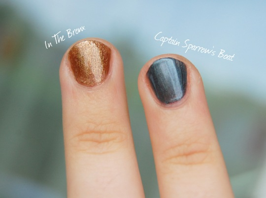 Catrice Modern Muse Swatches In The Bronx und Captain Sparrow's Boat