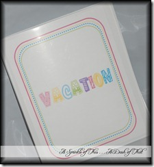 Vacation Travel Binder {A Sprinkle of This . . . . A Dash of That}