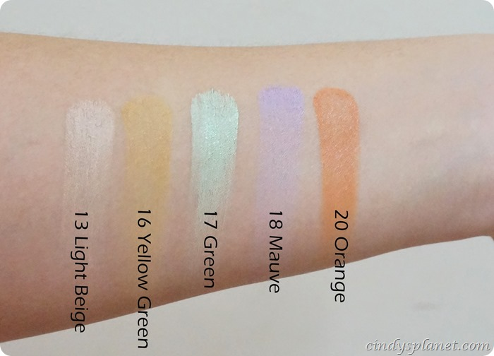 Make Up For Ever Camouflage Cream Palette swatch