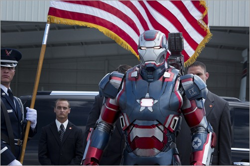 """Marvel's Iron Man 3""<br /><br />Iron Patriot<br /><br />Ph: Zade Rosenthal<br /><br />© 2012 MVLFFLLC.  TM & © 2012 Marvel.  All Rights Reserved."