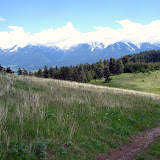 The view of the Mission Mountains from the ridge trail just off Highway 93.