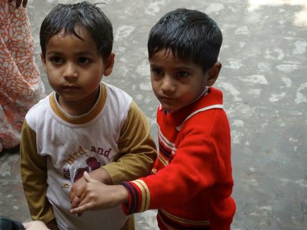 Children with Polio Finger Marks