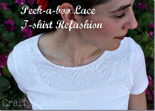 Lace Shirt Refashion