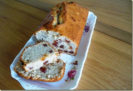 cherry and almond yoghurt cake