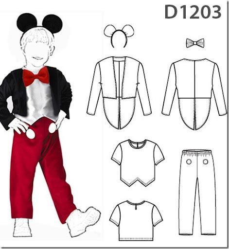 Hacer disfraz casero de Mickey mouse con moldes | Trato o truco