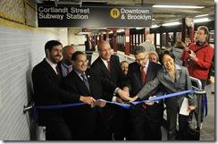 Reapertura de la Estación de Cortlandt Street
