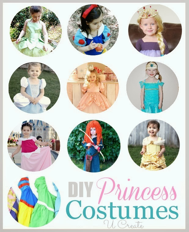 DIY Princess Costumes - for Halloween or those fun Disney trips!