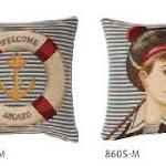 Poduszki gobelinowe o tematyce marynarskiej