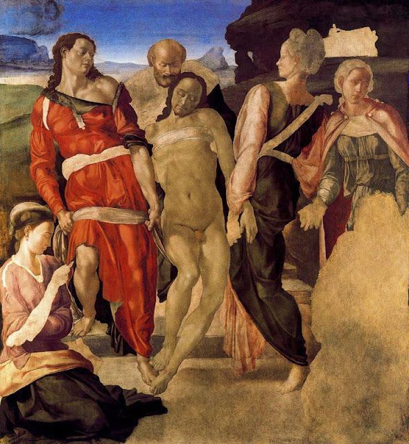 15 Michelangelo Buonarroti - Descenso en el sepulcro - Renacimiento.jpg